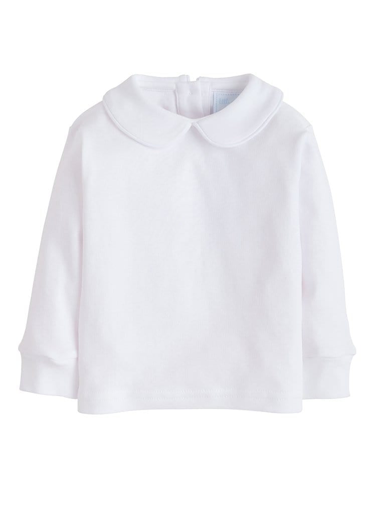 Piped Peter Pan Shirt - White