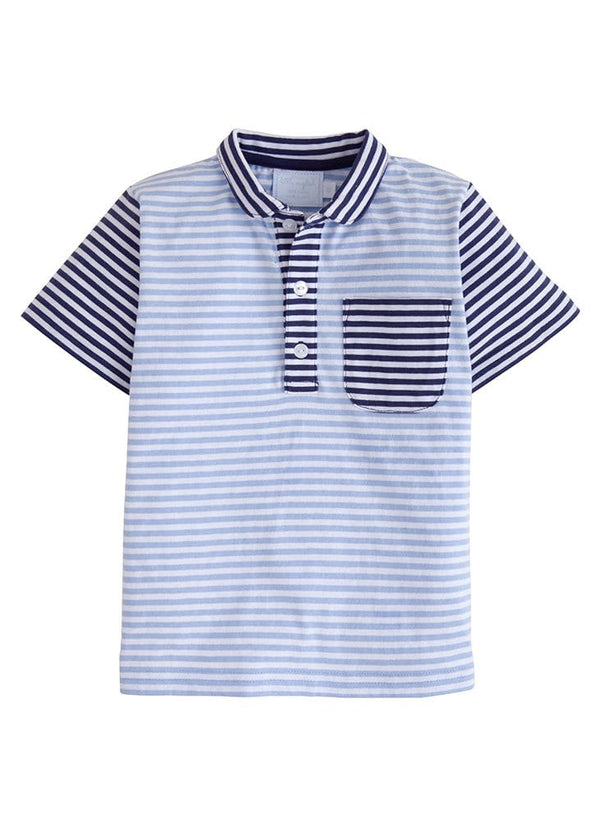 Pocket Peter Pan Polo - Blue/Navy