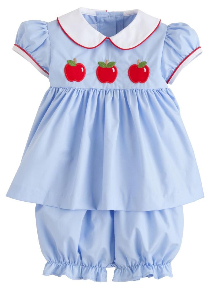 Poppy Peter Pan Bloomer Set - Apples