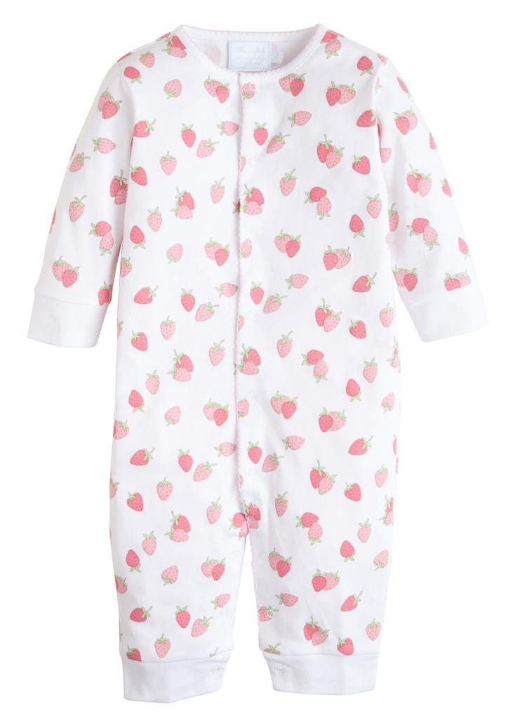 Printed Romper - Strawberry, Little English, classic children's clothing, preppy children's clothing, traditional children's clothing, classic baby clothing, traditional baby clothing