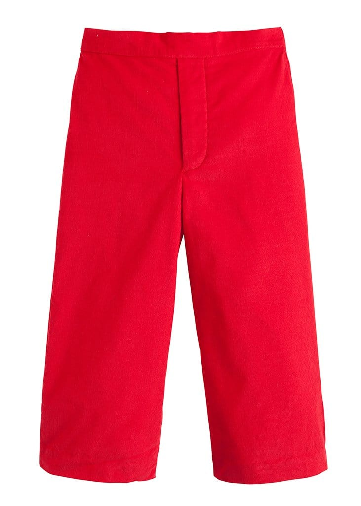 red corduroy pull on pant