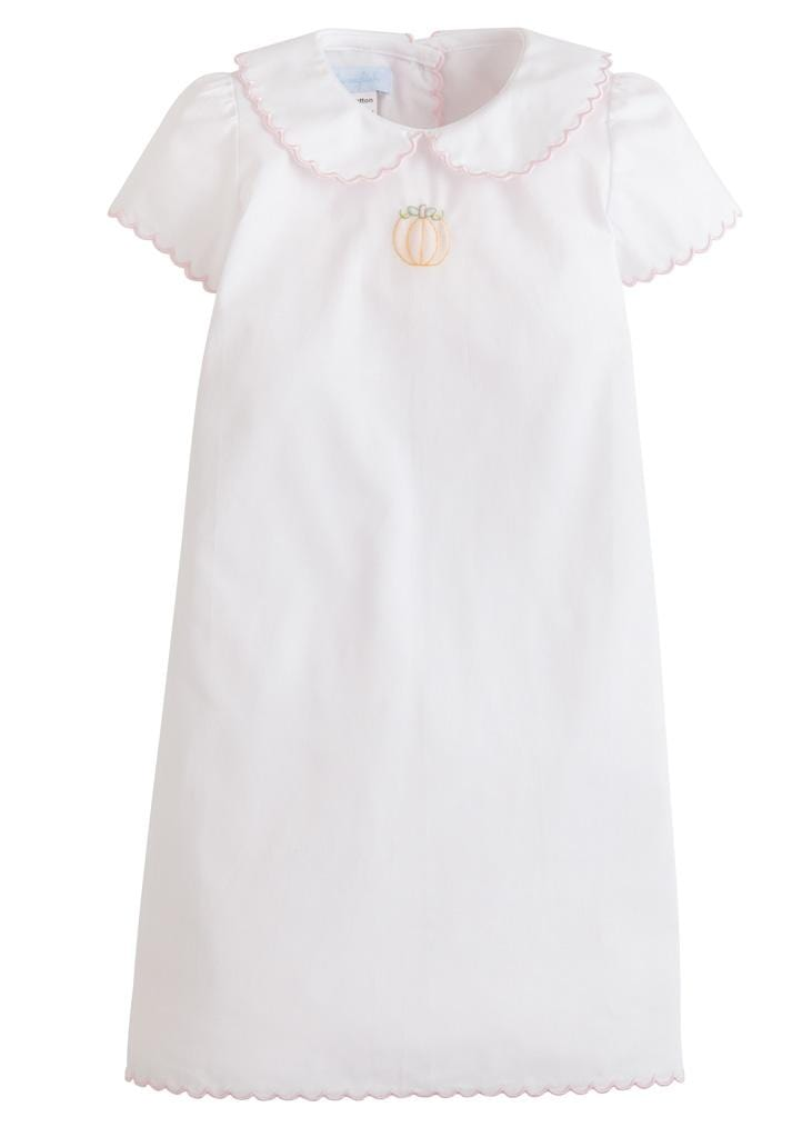 Little English classic baby girl's pumpkin tea gown, traditional children's clothing