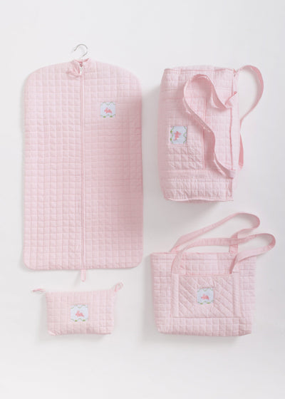 Bunny Quilted Luggage, Little English, classic children's clothing, preppy children's clothing, traditional children's clothing, classic baby clothing, traditional baby clothing