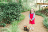 Red Corduroy Bow Jumper, Little English Traditional Children's Clothing, girl's classic bow jumper