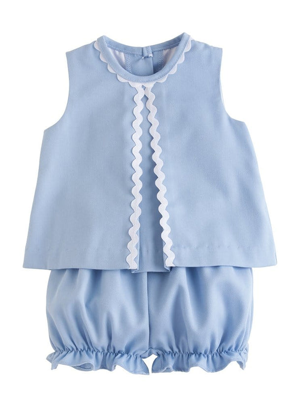 Little English baby girls classic bloomer set