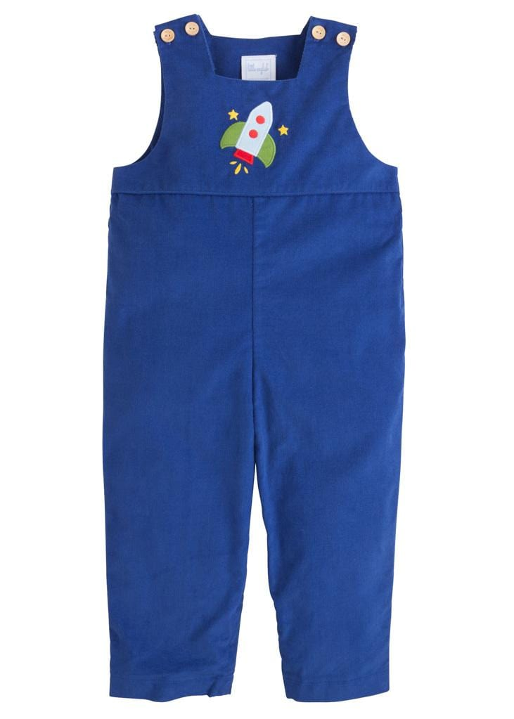 Little English classic boy's applique romper, traditional children's clothing