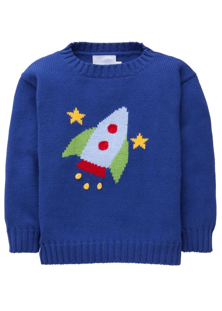 Little English classic boy's rocket intarsia sweater, traditional children's clothing