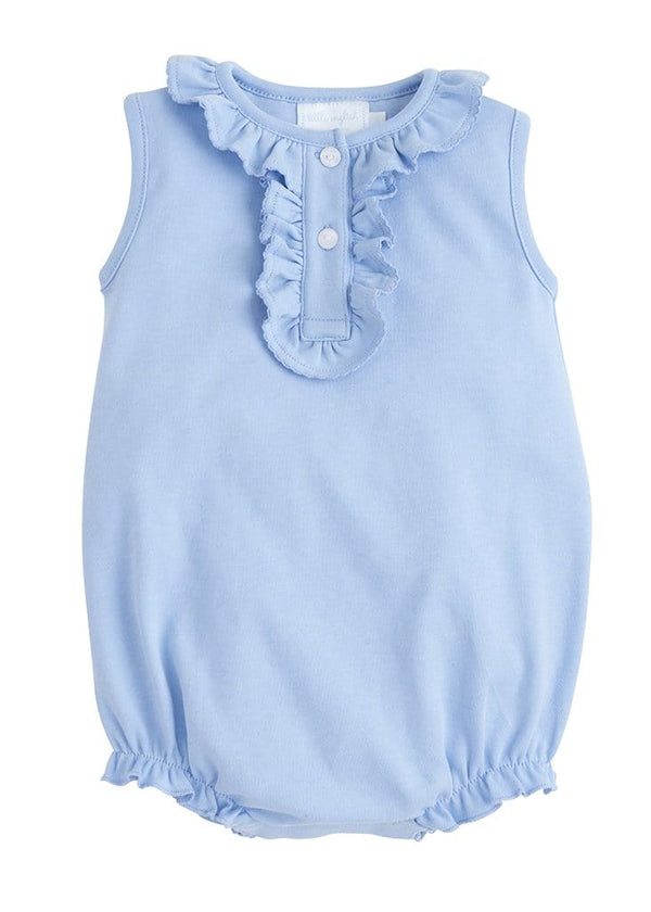 Little English baby girls knit henley bubbe