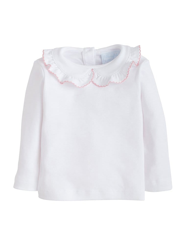 Ruffled Peter Pan Blouse - Light Pink