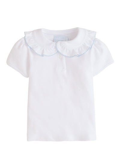 Ruffled Peter Pan Blouse, Little English, classic children's clothing, preppy children's clothing, traditional children's clothing, classic baby clothing, traditional baby clothing