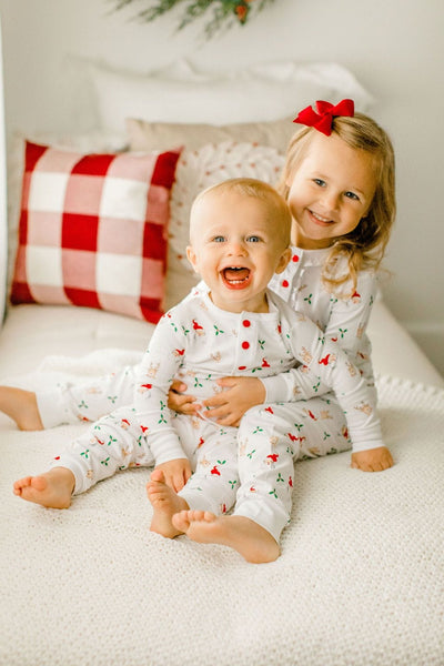 Printed Jammies - Santa & Reindeer - Girl