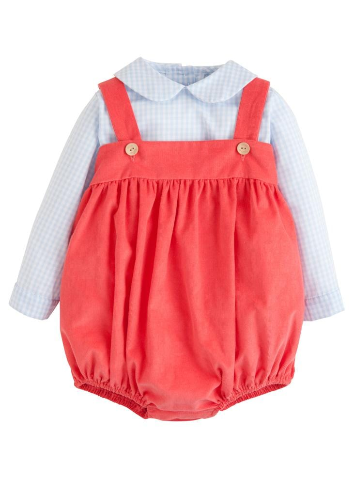 Flamingo Corduroy Saratoga Bubble Set, Little English Traditional Children's Clothing, classic boy's bubble set