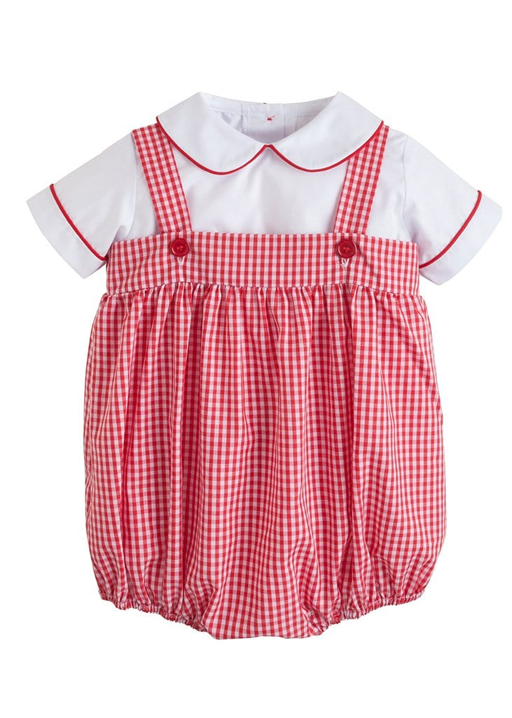 red gingham bubble set