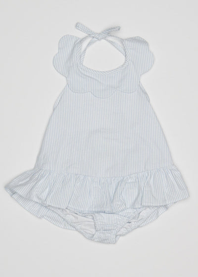 Scallop Swimsuit, Little English, Little English, classic children's clothing, preppy children's clothing, little English clothing, classic baby clothing, traditional children's clothing, children's clothing, baby clothing