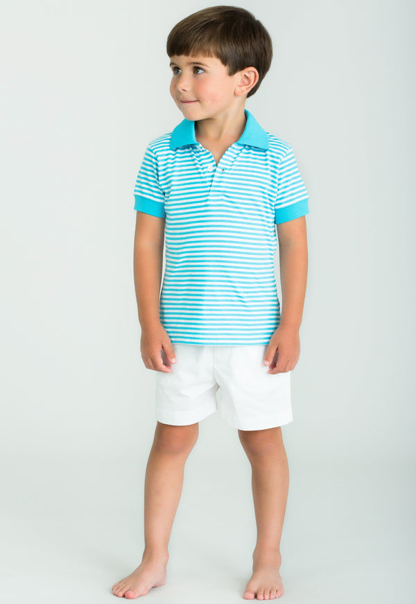 Little English boy's striped polo, classic children's clothing