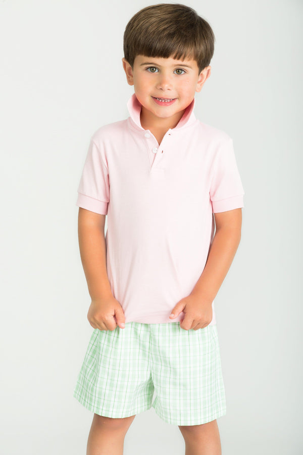 Little English Classic Polo Shirt, Light Pink