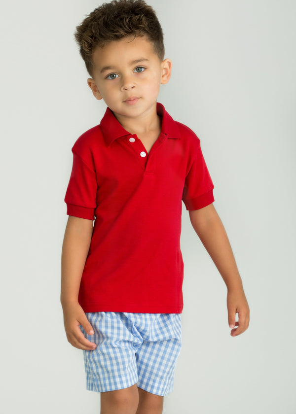 Little English boy's polo shirt, classic children's clothing