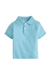 Solid Polo - Aqua, Little English, classic children's clothing, preppy children's clothing, traditional children's clothing, classic baby clothing, traditional baby clothing