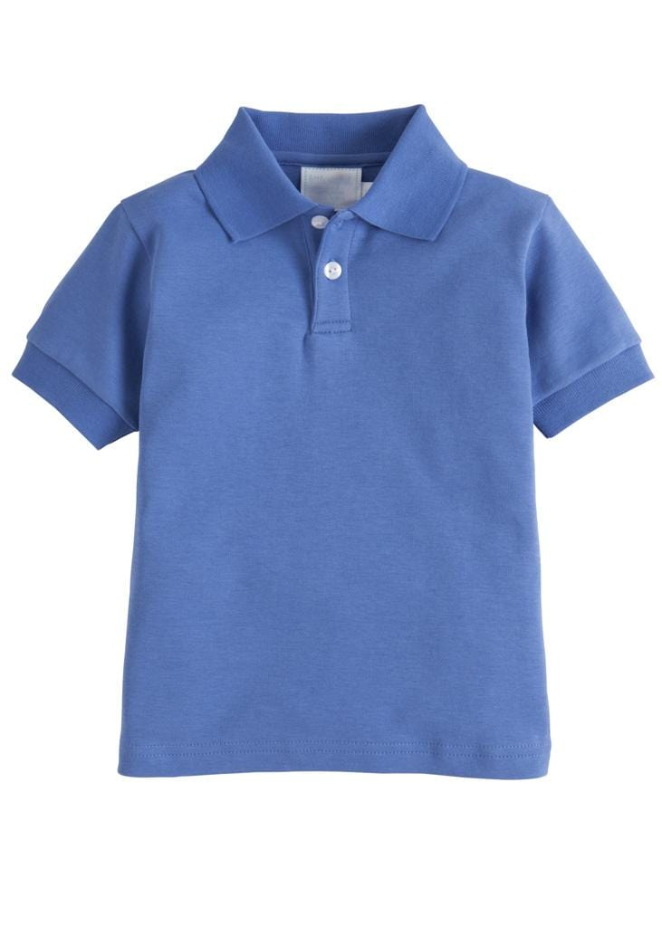 Solid Polo - Harbor Blue, Little English, classic children's clothing, preppy children's clothing, traditional children's clothing, classic baby clothing, traditional baby clothing