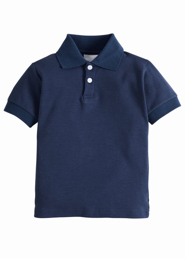 Solid Polo - Navy, Little English, classic children's clothing, preppy children's clothing, traditional children's clothing, classic baby clothing, traditional baby clothing