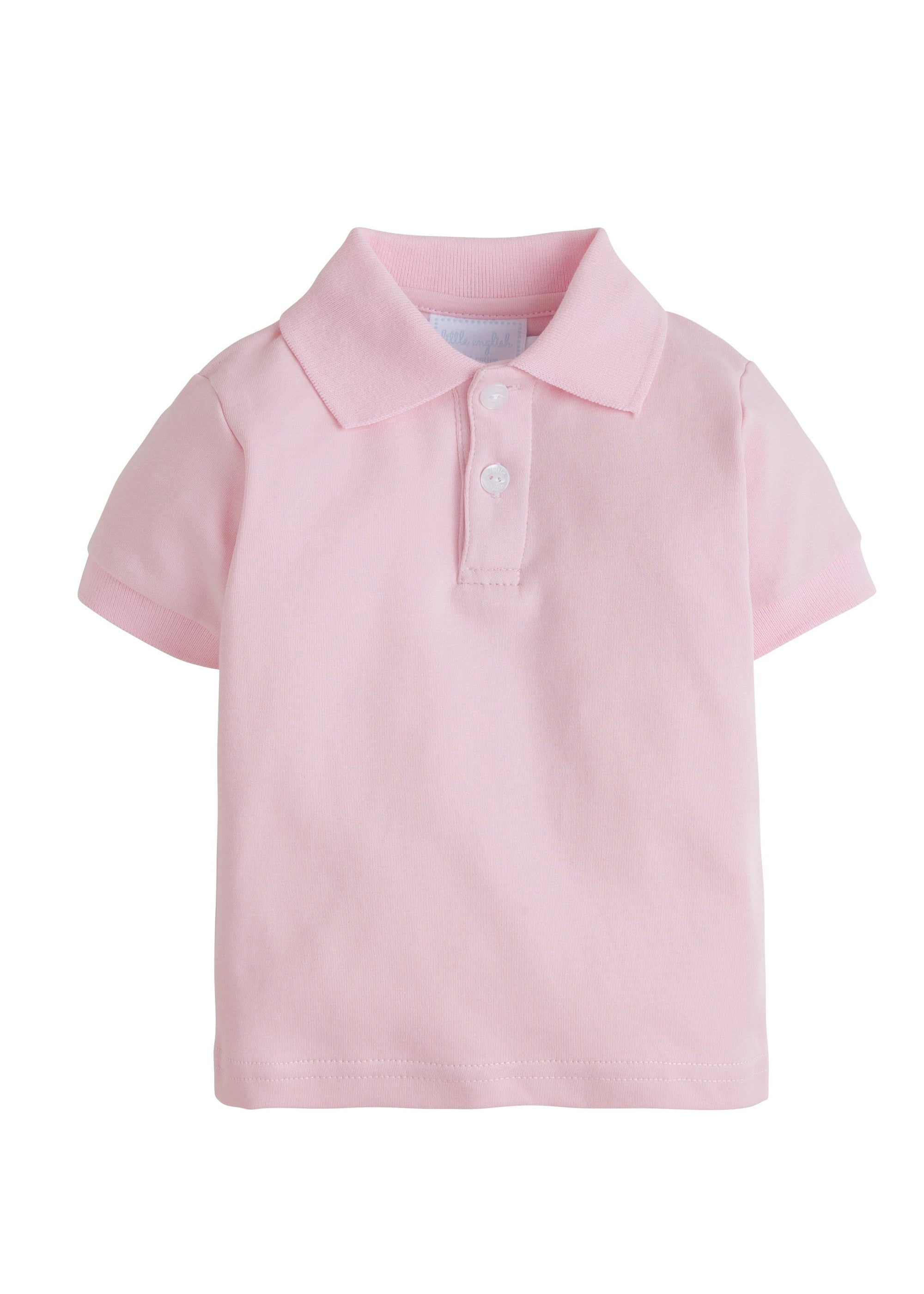 Solid Polo - Pink, Little English, classic children's clothing, preppy children's clothing, traditional children's clothing, classic baby clothing, traditional baby clothing
