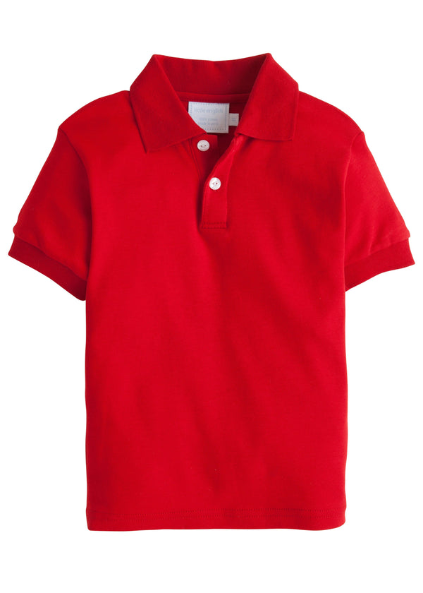 Solid Polo - Red, Little English, classic children's clothing, preppy children's clothing, traditional children's clothing, classic baby clothing, traditional baby clothing