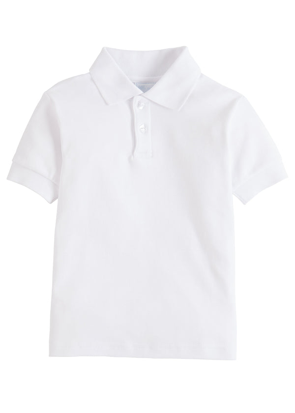 Solid Polo - White, Little English, classic children's clothing, preppy children's clothing, traditional children's clothing, classic baby clothing, traditional baby clothing