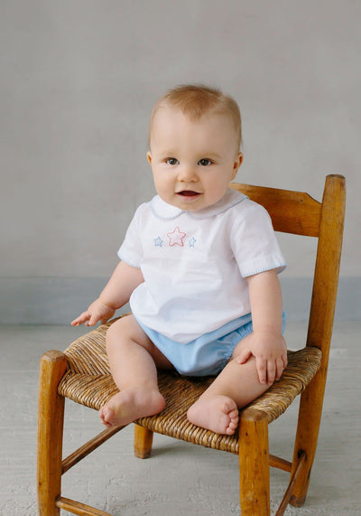 Star Whipstitch Day Shirt, Little English, classic children's clothing, preppy children's clothing, traditional children's clothing, classic baby clothing, traditional baby clothing