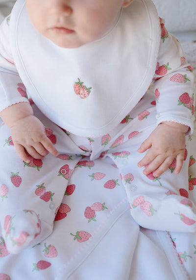 Printed Footie - Strawberry, Little English, classic children's clothing, preppy children's clothing, traditional children's clothing, classic baby clothing, traditional baby clothing