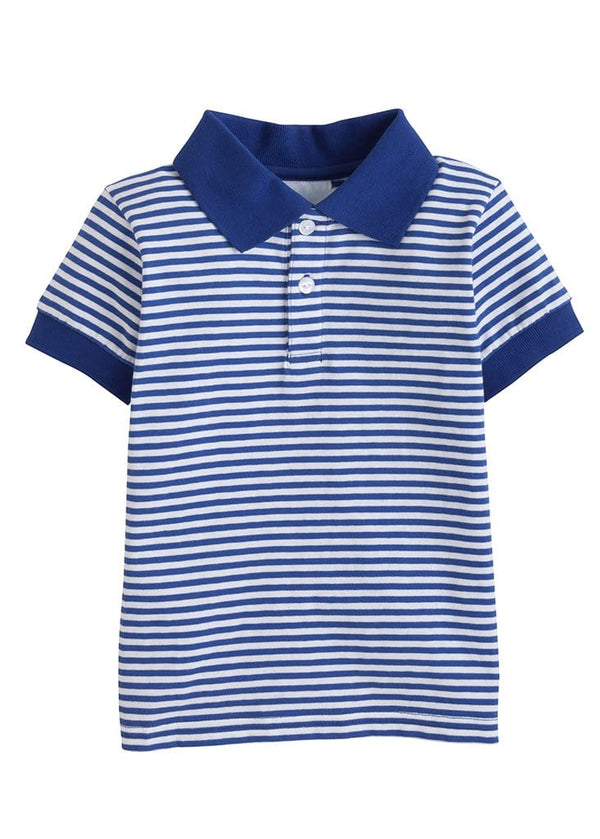 Little English classic boys striped polo