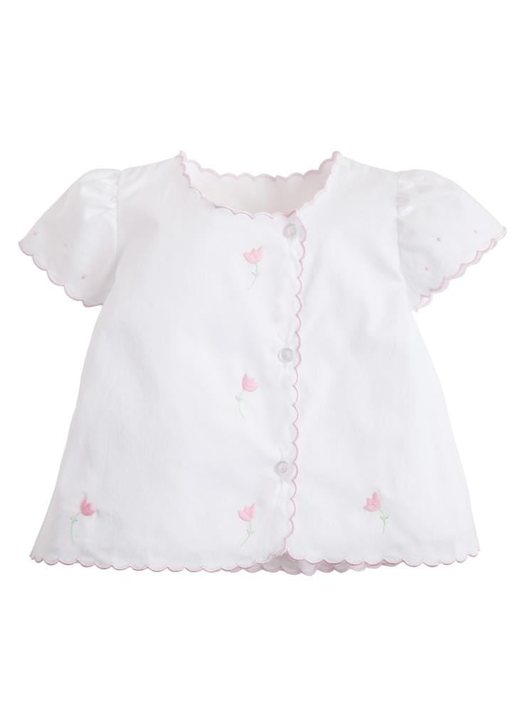 Tulip Tea Blouse, Little English, classic children's clothing, preppy children's clothing, traditional children's clothing, classic baby clothing, traditional baby clothing