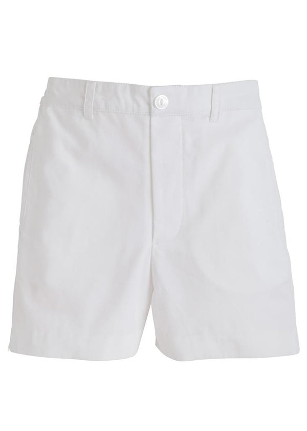 Twill Boat Short - White, Little English, classic children's clothing, preppy children's clothing, traditional children's clothing, classic baby clothing, traditional baby clothing