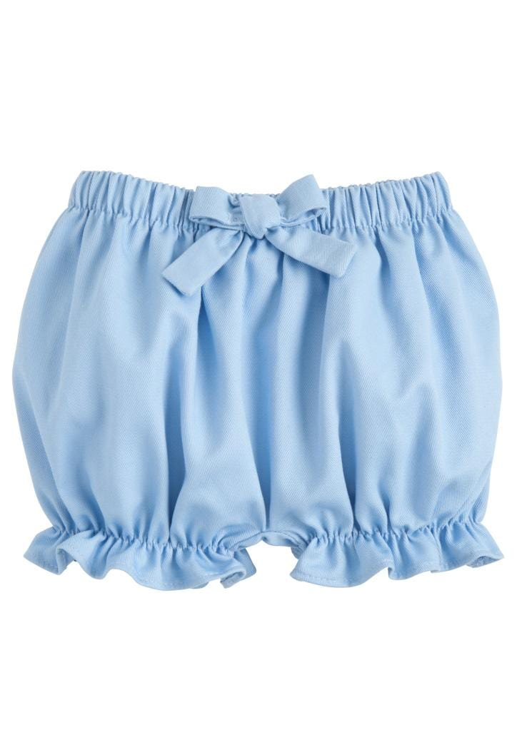 Twill Bow Bloomer - Light Blue, Little English, classic children's clothing, preppy children's clothing, traditional children's clothing, classic baby clothing, traditional baby clothing