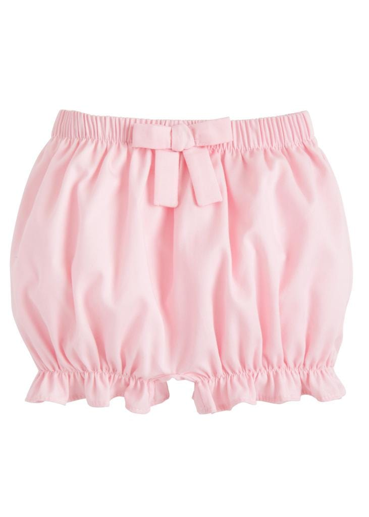 Twill Bow Bloomer - Pink, Little English, classic children's clothing, preppy children's clothing, traditional children's clothing, classic baby clothing, traditional baby clothing