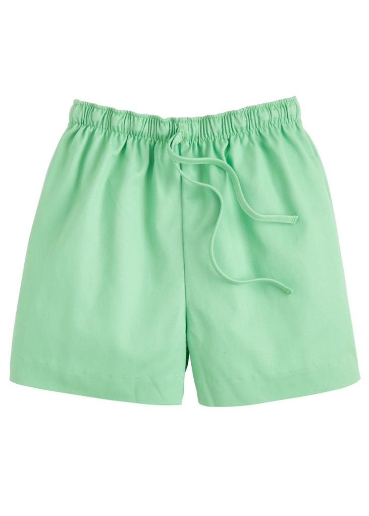 Twill Drawstring Short - Green, Little English, classic children's clothing, preppy children's clothing, traditional children's clothing, classic baby clothing, traditional baby clothing