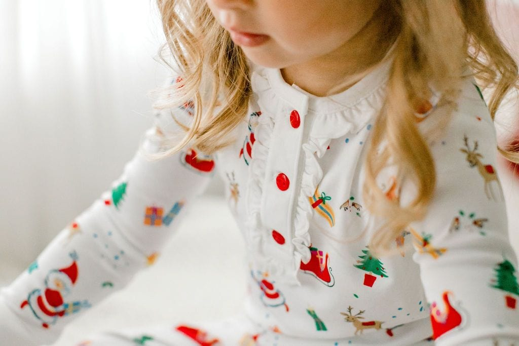 Printed Jammies - Vintage Christmas - Girl