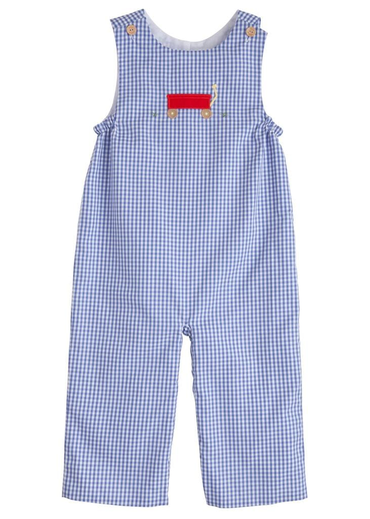 Little English classic boy's gingham overall