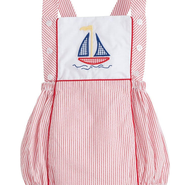 white with royal blue stripes Free  Shipping!! 8\u201d length Little Sailor Bubble Shorts for Babies size 12-18M