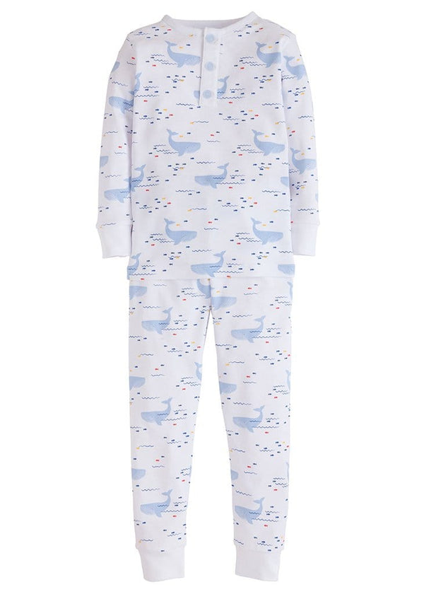 Boy Printed Jammies - Whale