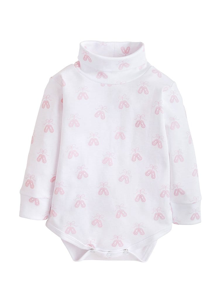 little english classic girls ballet slipper turtleneck onesie