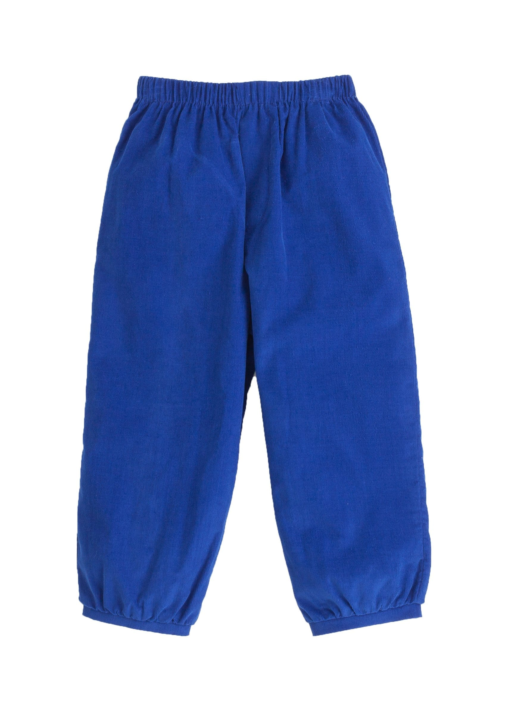 boys banded pull on pant in royal blue corduroy