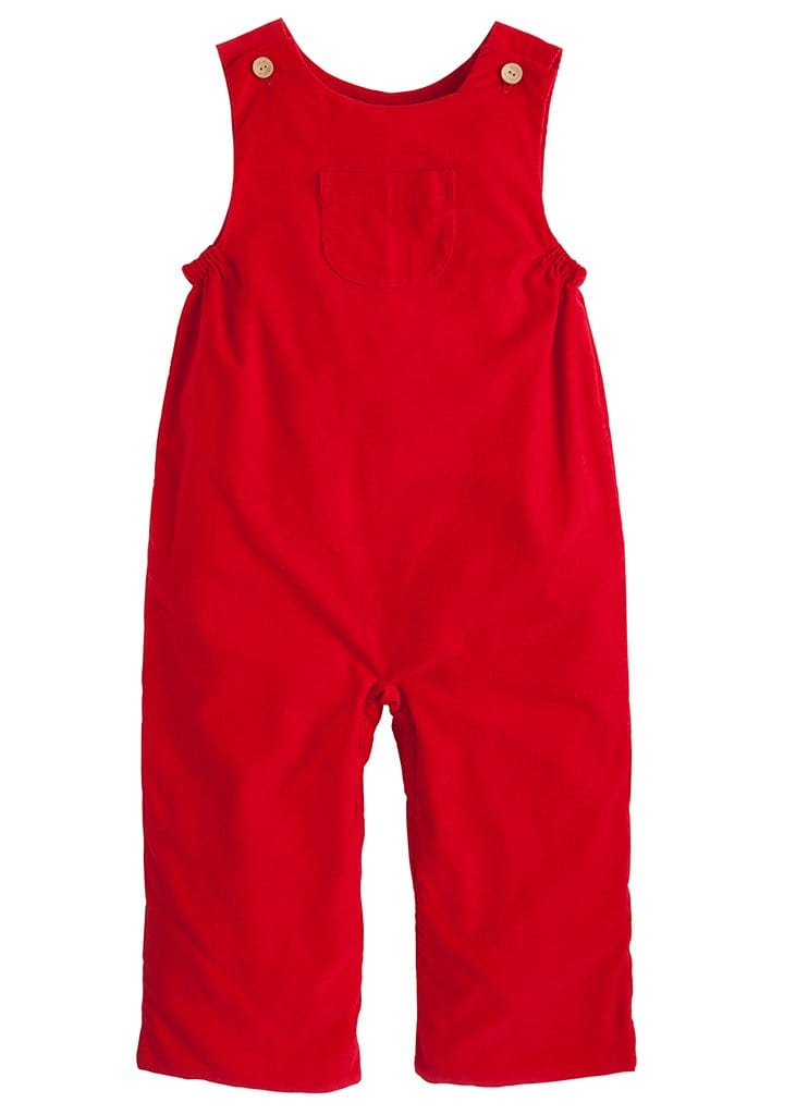 little english classic boys red overalls