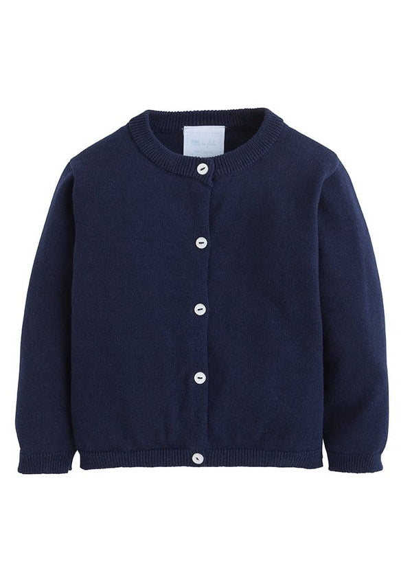 Essential Cardigan - Navy, Little English, classic children's clothing, preppy children's clothing, traditional children's clothing, classic baby clothing, traditional baby clothing