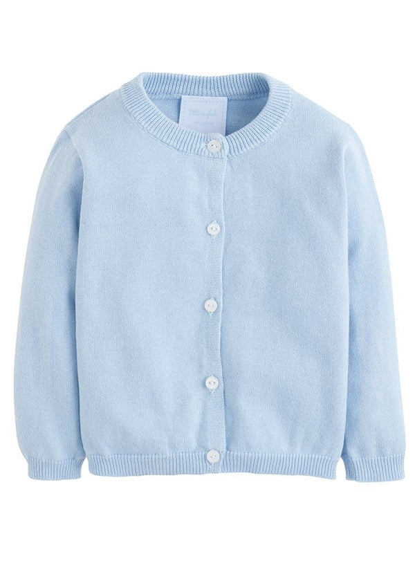 Essential Cardigan - Light Blue, Little English, classic children's clothing, preppy children's clothing, traditional children's clothing, classic baby clothing, traditional baby clothing