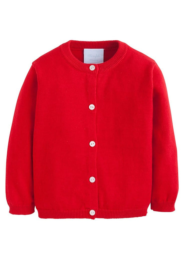 Essential Cardigan - Red, Little English, classic children's clothing, preppy children's clothing, traditional children's clothing, classic baby clothing, traditional baby clothing