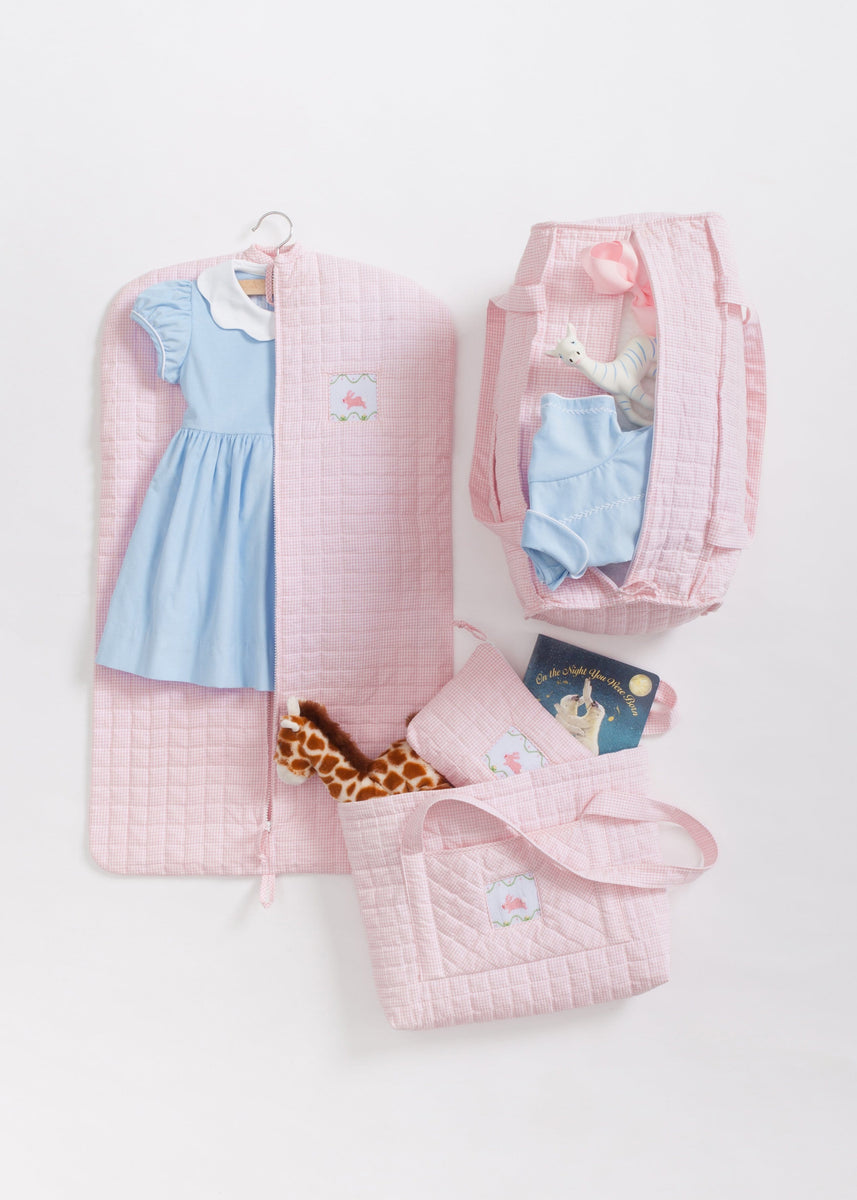 Girl Quilted Luggage Little English