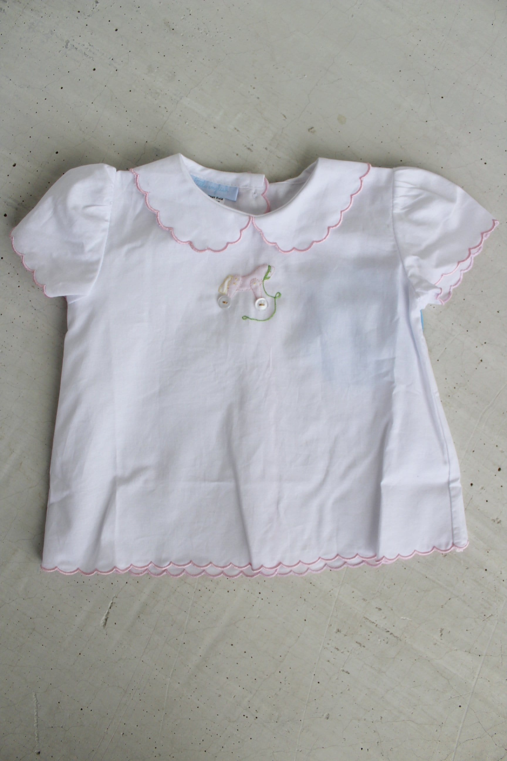 Day Blouse-Rocking Horse, Little English, Little English, classic children's clothing, preppy children's clothing, little english clothing