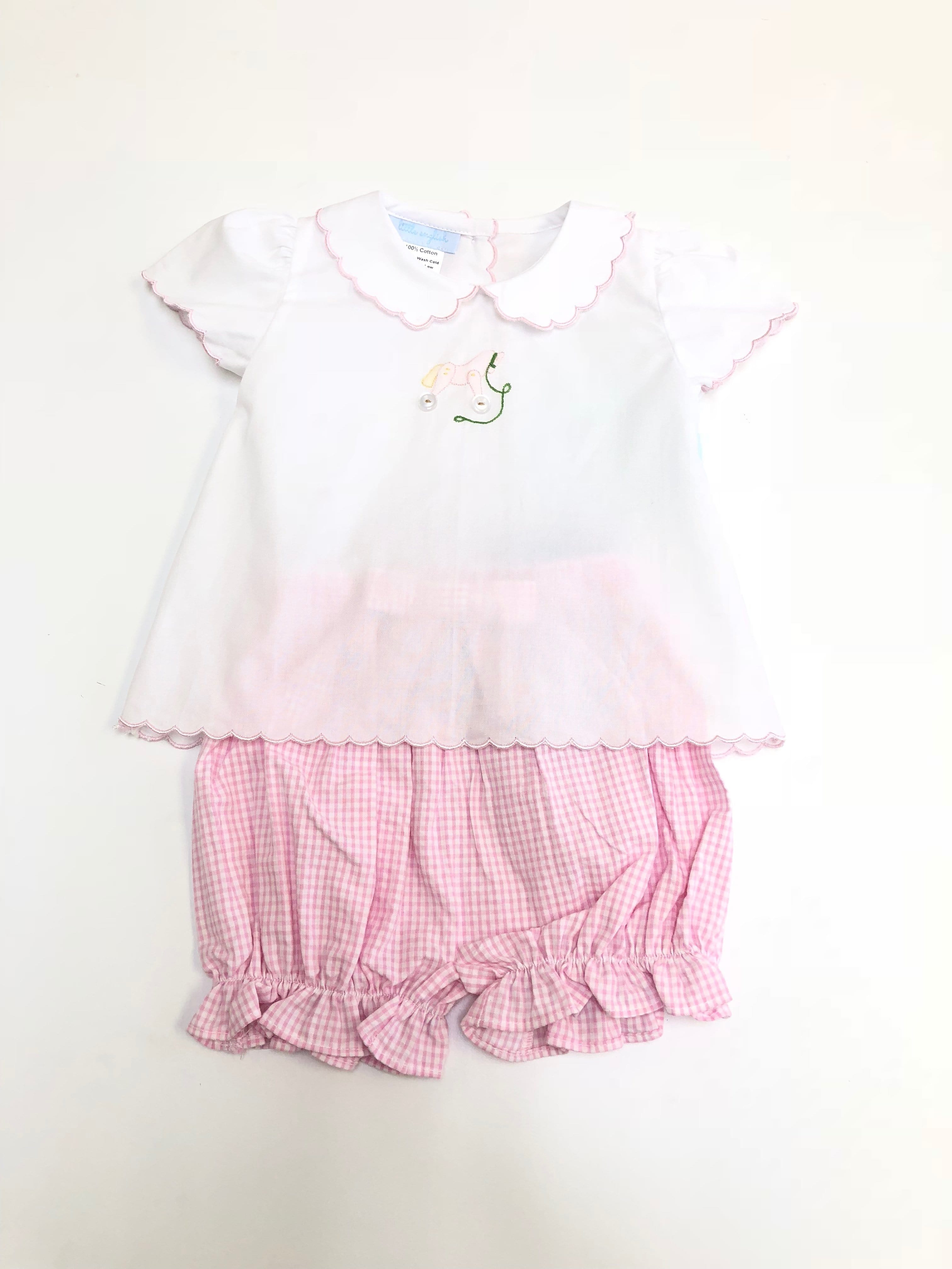 Day Blouse-Rocking Horse, Little English, Little English, classic children's clothing, preppy children's clothing, little English clothing, classic baby clothing, traditional children's clothing, children's clothing, baby clothing