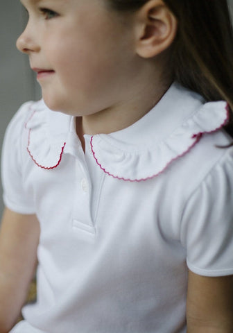 Ruffled Peter Pan Blouse Little English little english - classic children's clothing, traditional children's clothing, preppy children's clothing