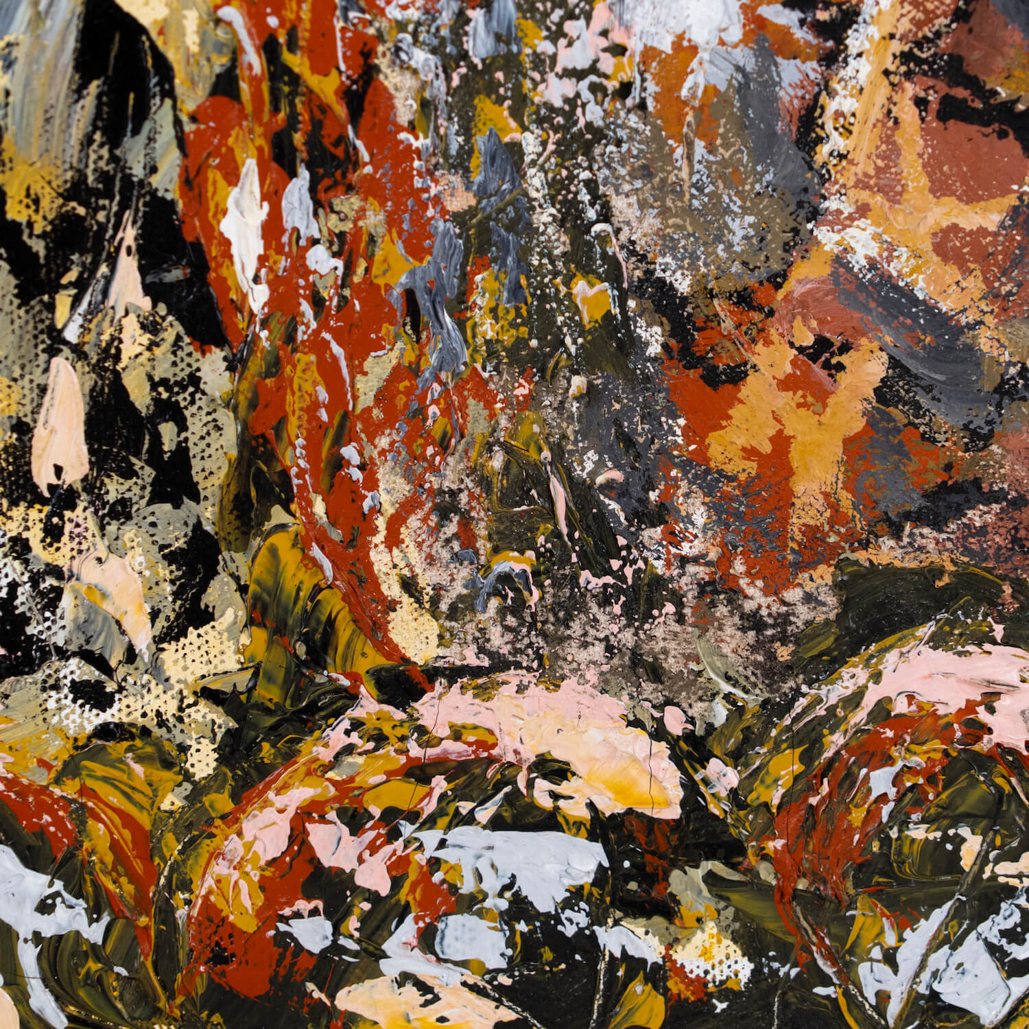 """Abstract Painting Titled """"Woman In Garden"""", Dated 12/96"""
